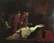 Lord Frederic Leighton The Reconciliation of the Montagues and Capulets over the Dead Bodies of Romeo and Juliet oil painting picture wholesale