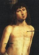 Lorenzo  Costa Saint Sebastian France oil painting reproduction