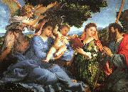 Lorenzo Lotto Madonna and Child with Saints Catherine and James oil painting picture wholesale