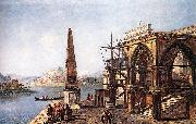 MARIESCHI, Michele Imaginative View with Obelisk  s oil painting picture wholesale