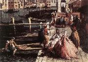 MARIESCHI, Michele The Grand Canal at San Geremia (detail) sg oil painting picture wholesale
