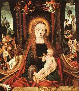 MASTER of the Aix-en-Chapel Altarpiece Madonna and Child sg oil painting artist