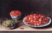 MOILLON, Louise Still-Life with Cherries, Strawberries and Gooseberries ag oil painting artist