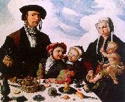 Maerten Jacobsz van Heemskerck Family Portrait oil painting