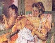 Mary Cassatt Woman Combing her Child's Hair oil painting picture wholesale