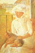 Mary Cassatt Woman with Dog  ghgh oil painting picture wholesale