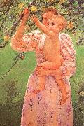 Mary Cassatt Baby Reaching for an Apple oil painting picture wholesale