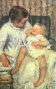 Mary Cassatt Mother About to Wash her Sleepy Child oil painting picture wholesale