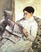 Mary Cassatt Reading Le Figaro oil painting picture wholesale
