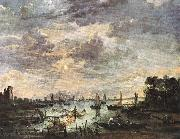 NEER, Aert van der Fishing at Moonlight ag oil painting picture wholesale