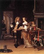 NEER, Eglon van der Elegant Couple in an Interior sh oil painting picture wholesale