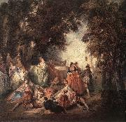 Nicolas Lancret Company in Park oil painting artist