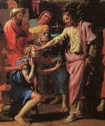 Nicolas Poussin Jesus Healing the Blind of Jericho oil painting artist