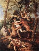 Nicolas Poussin Pan and Syrinx oil painting