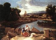 Nicolas Poussin Landscape with St Matthew and the Angel oil painting picture wholesale