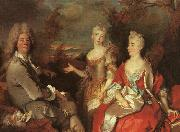 Nicolas de Largilliere Family Portrait oil painting artist