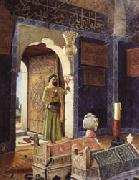 Osman Hamdy Bey Old Man before Children's Tombs oil painting picture wholesale