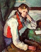 Paul Cezanne Boy in a Red Waistcoat France oil painting reproduction