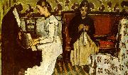 Paul Cezanne Girl at the Piano France oil painting reproduction