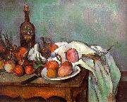 Paul Cezanne Onions and Bottles France oil painting reproduction