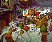 Paul Cezanne Vessels, Basket and Fruit France oil painting reproduction