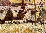 Paul Gauguin Breton Village in the Snow oil painting picture wholesale
