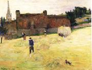 Paul Gauguin Hay-Making in Brittany oil painting picture wholesale