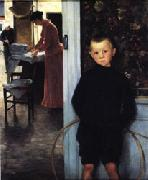 Paul Mathey Woman and Child in an Interior oil painting picture wholesale