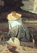 Paul-Camille Guigou The Washerwoman oil painting picture wholesale