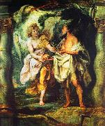Peter Paul Rubens The Prophet Elijah Receiving Bread and Water from an Angel oil painting picture wholesale