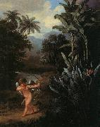 Philip Reinagle Cupid Inspiring the Plants with Love oil painting picture wholesale
