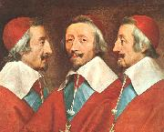 Philippe de Champaigne Triple Portrait of Richelieu oil painting picture wholesale