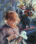 Pierre Renoir Lady Sewing oil painting picture wholesale