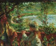 Pierre Renoir Near the Lake oil painting picture wholesale