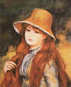Pierre Renoir Girl and Golden Hat oil painting picture wholesale