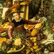 Pieter Aertsen Market Woman  with Vegetable Stall France oil painting reproduction
