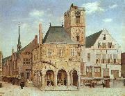Pieter Jansz Saenredam The Old Town Hall in Amsterdam oil painting artist