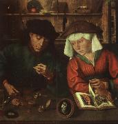 Quentin Massys The Moneylender and his Wife oil painting picture wholesale