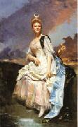 Raimundo de Madrazo Y Garreta Marquise d' Hervey Saint-Denys oil painting picture wholesale