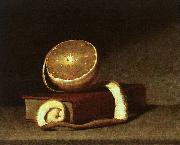 Raphaelle Peale Still Life with Orange and Book oil painting artist