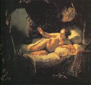 Rembrandt Danae oil painting