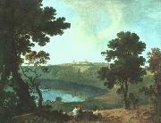Richard  Wilson Lake Albano and Castel Gandolfo oil painting artist