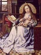 Robert Campin The Virgin and the Child Before a Fire Screen oil painting artist