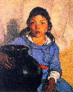 Robert Henri Gregorita with the Santa Clara Bowl oil painting artist