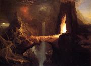 Thomas Cole Expulsion - Moon and Firelight oil painting picture wholesale