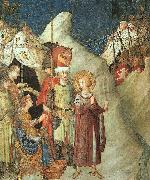Simone Martini St.Martin Renouncing the Sword oil painting artist