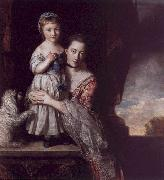 Sir Joshua Reynolds The Countess Spencer with her Daughter Georgina oil painting picture wholesale