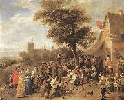 TENIERS, David the Younger Peasants Merry-making wt oil painting picture wholesale