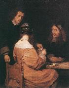 TERBORCH, Gerard Card-Players awr oil painting picture wholesale
