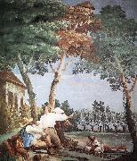 TIEPOLO, Giovanni Domenico Peasants at Rest r oil painting picture wholesale